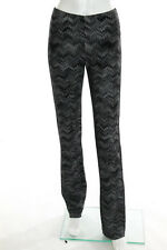 Missoni Black Gray Abstract Print Straight Leg Pants Size Italian 40 new 12192