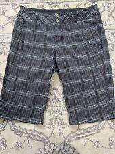 "Columbia - Black Plaid Shorts - Size 6 - 12"" Inseam"
