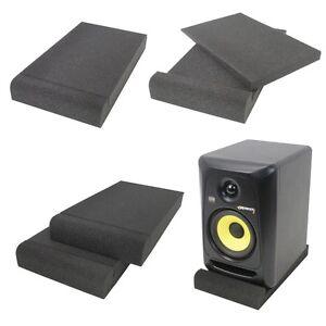 "Gorilla Studio Holds up to 6"" DJ Monitor Speaker Isolation Pad Acoustic Foam"