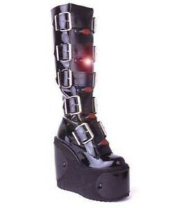 Super Rare Light Up Gothic Transmuter Boot Panels, Cyber Rave