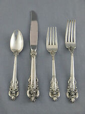 WALLACE GRANDE BAROQUE STERLING SILVER FLATWARE,  4 PIECE PLACE SETTING