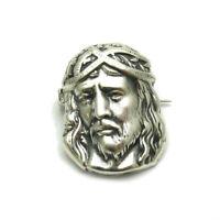 Sterling Silver Handmade Brooch Jesus Genuine Solid Hallmarked 925