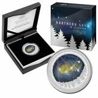 Australia 2016 $5 Northern Sky Series CASSIOPEIA 1oz Silver Proof Domed Coloured