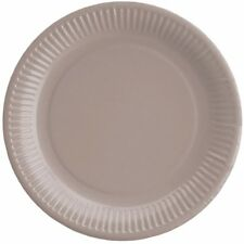 """20 X Large Paper Plates Round 23cm/9"""" Plain Solid Colours Dinner Thick Quality Sand"""