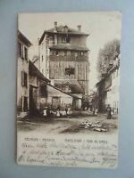 Ansichtskarte Müllausen Mulhouse Teufelsturm Tour du Diable 1906 Elsass