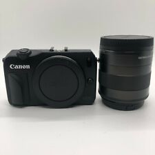 Canon EOS M Mirrorless Digital Camera with 18-55 Lens and Flash Kit - Black