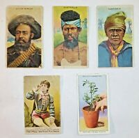 Vintage Tobacco Trade Cards -Little Cigars-Lorillard-Imperial Tobacco - Lot of 5