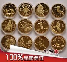 Constellation Gold Plated Coin Sets 12星座镀金纪念币