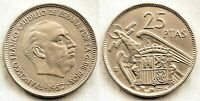 Estado Español - 25 Pesetas 1957*61 Madrid. EBC-/XF-. Niquel. 8,5 grs. ESCASA