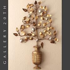 MID CENTURY MODERN OLIVE TREE WALL ART! ORIG. METAL VTG EAMES C. JERE ERA 1960'S