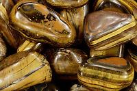"Tigers Eye 2"" Tumbled Polished Rock Mineral Chakra Healing Crystal Gemstone"