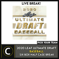 2020 LEAF ULTIMATE DRAFT BASEBALL 6 BOX HALF CASE BREAK #A1008 - PICK YOUR TEAM