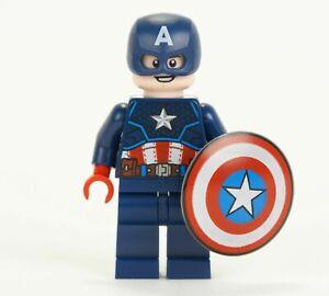 Lego Marvel Avengers Captain America Dark Blue Suit Helmet & Shield 76168