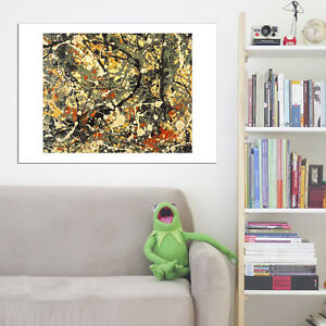 Jackson Pollock Number 8 Vintage Wall Art Poster Print Picture Giclee Artwork