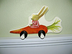 IKEA Fabler wall mounted children's Coat Clothing Hanger Entrance Carrot Rabbit
