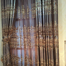 European Deluxe Embroidery Half Shading Window Voile Curtain Room Decor 2.8 x 1m