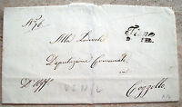 1846 63) PREFILATELICA DA THIENE A COGGOLLO. ANNULLO LINEARE SENZA CONTENUTO