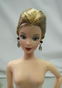 Mattel Barbie NUDE DOLL HONEY BLONDE UPDO Eyes Red Lips Model Muse New Unbox