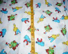 2 yds Vintage princess Fabrics  Sesame Street Fabric a b c Sewing  Crafts