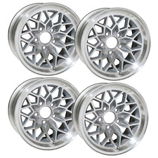 15X8 TRANS AM SNOWFLAKE WHEEL SET OF 4 NEW W/ SILVER INSETS FITS 1967 - 1981