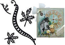 Marianne Design Craftables Cut&Embossing Dies- CR1243 - Tiny's Swirls & Leaves 1