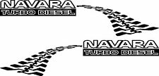 NAVARA D TURBO DIESEL DECALS FOR nissan EACH SIDE OF 4X4 400mm Stickers