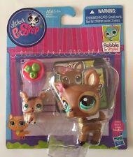 Littlest Pet Shop #3583#3584 Brown Mummy And Baby Deer Rare!!!