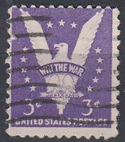 USA Briefmarke gestempelt 3c Win the War Adler Tier / 3072