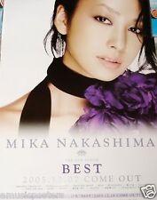"""MIKA NAKASHIMA """"BEST"""" JAPANESE PROMO POSTER - Japan J-Pop Music, Actress/Singer"""