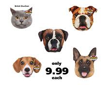 Rosewood Pets Face's Pet Cushion Boxer GSD Bull Dog Beagle Blue Cat - NQP