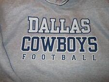 Dallas Cowboys Hooded Gray Sweatshirt - Adult Large - Heavy Duty - Free Shipping