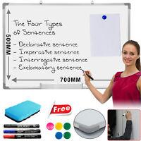 Whiteboard Large Magnetic Dry Wipe Drawing Board&Eraser Office School Memo Board