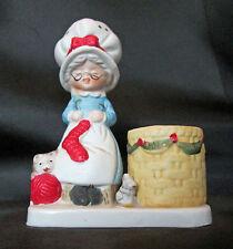 Vintage Granny At Work Hand Painted Porcelain Figurine Jasco 1978 Taiwan