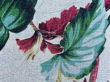 SALE! PAIR Miami Beach Tropical Barkcloth Vintage Fabric Drape Curtain Art Deco