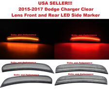 2015 2016 2017 DODGE CHARGER CLEAR LENS LED SIDE MARKER LIGHTS FRONT & REAR SET