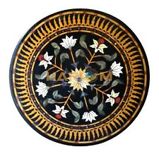 "42"" Marble Round Dining Table Top Marquetry Mosaic Inlay Interior Decors B245B"
