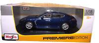 Maisto Premiere Edition Porsche Panamera Turbo (Blue 1/18 Diecast Metal)