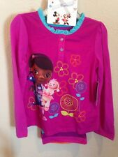 NEW Disney Doc McStuffin Pajama Set Soft Thick Pants! New Size 4