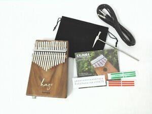 Haze 01EA Solid Acacia Kalimba MBIRA Thumb Piano,17-Key w/Pickup,Tutorial Manual