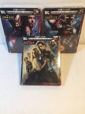 IRON MAN 1 & 2 & 3 SteelBook (4K Blu-ray + Blu-ray + Digital)