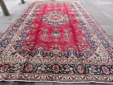 Old  Hand Made Traditional Persian Rugs Oriental Wool Red Large Carpet 495x303cm
