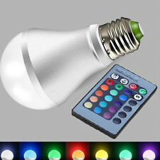 10W E27 RGB LED Light Bulb Color Changing with Remote Control Lamp Bulb