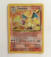 Pokémon - Charizard x 1 - Base Set - 4/102 Pokemon - See Photos / DAMAGED