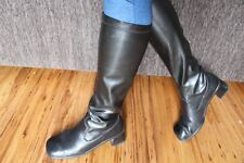 WOMEN'S VINTAGE BLACK LEATHER RIEKER HIGH BOOTS 39 GERMANY