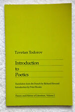 Theory and History of Literature: An Introduction to Poetics Vol. 1 by...