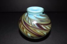 Art Reed Sweetwater Studio Art Glass Vase Signed Contemporary Glassblower EUC