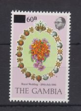 1981 Royal Wedding Charles & Diana MNH Stamp The Gambia Provisional Value SG 467