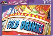 NEW Puzzlebug 300 Piece Jigsaw Puzzle ~ Cold Drinks Refreshment Sign