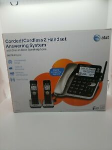 AT&T CL84202 Corded/Cordless Expandable Phone System 2 Handsets & Base Speaker