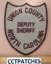VINTAGE UNION COUNTY, NORTH CAROLINA SHERIFF (POLICE) SHOULDER PATCH NC